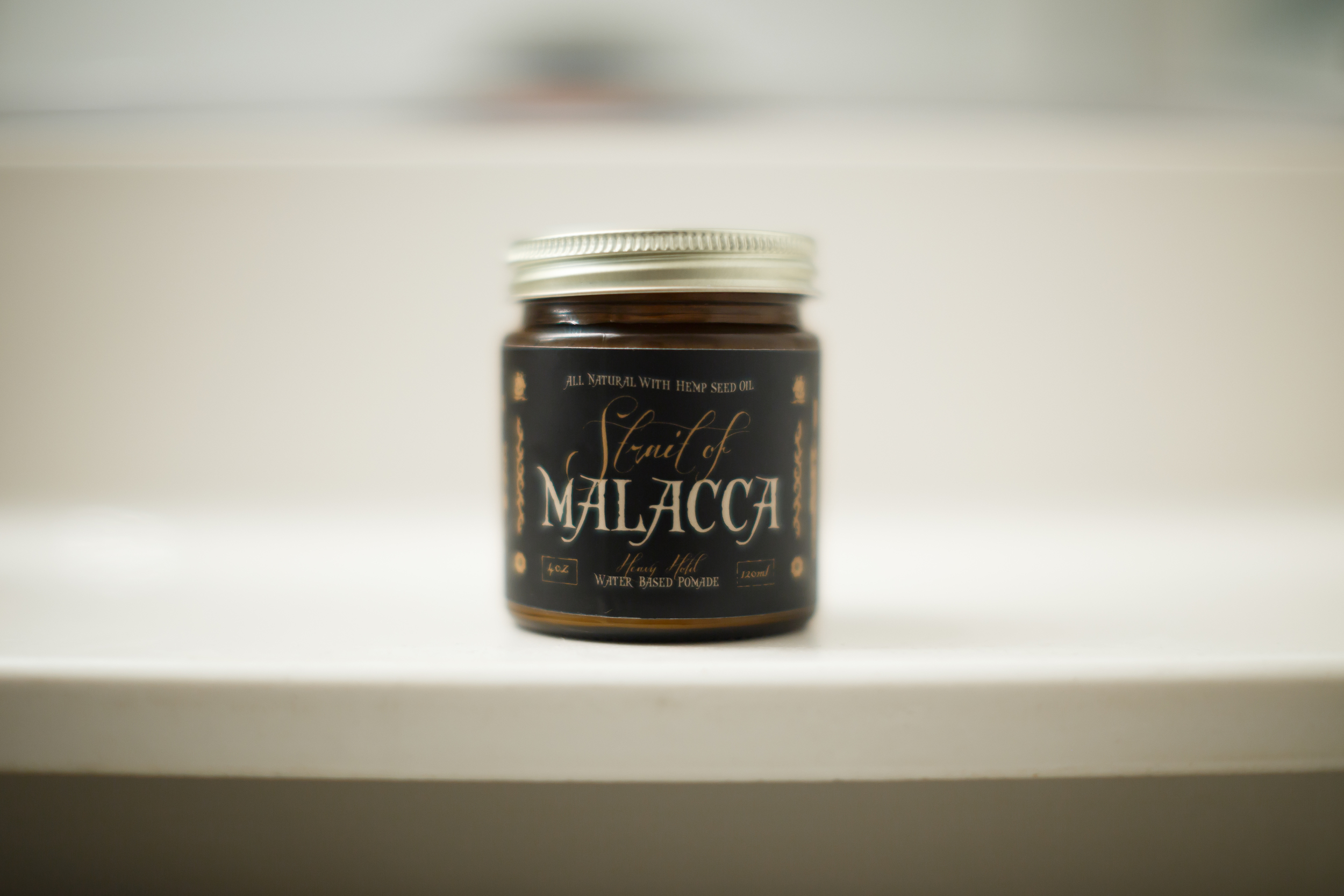 Flagship X Borneoil Straight of Malacca Pomade Review by The Pomp | Water-Based Heavy Hold