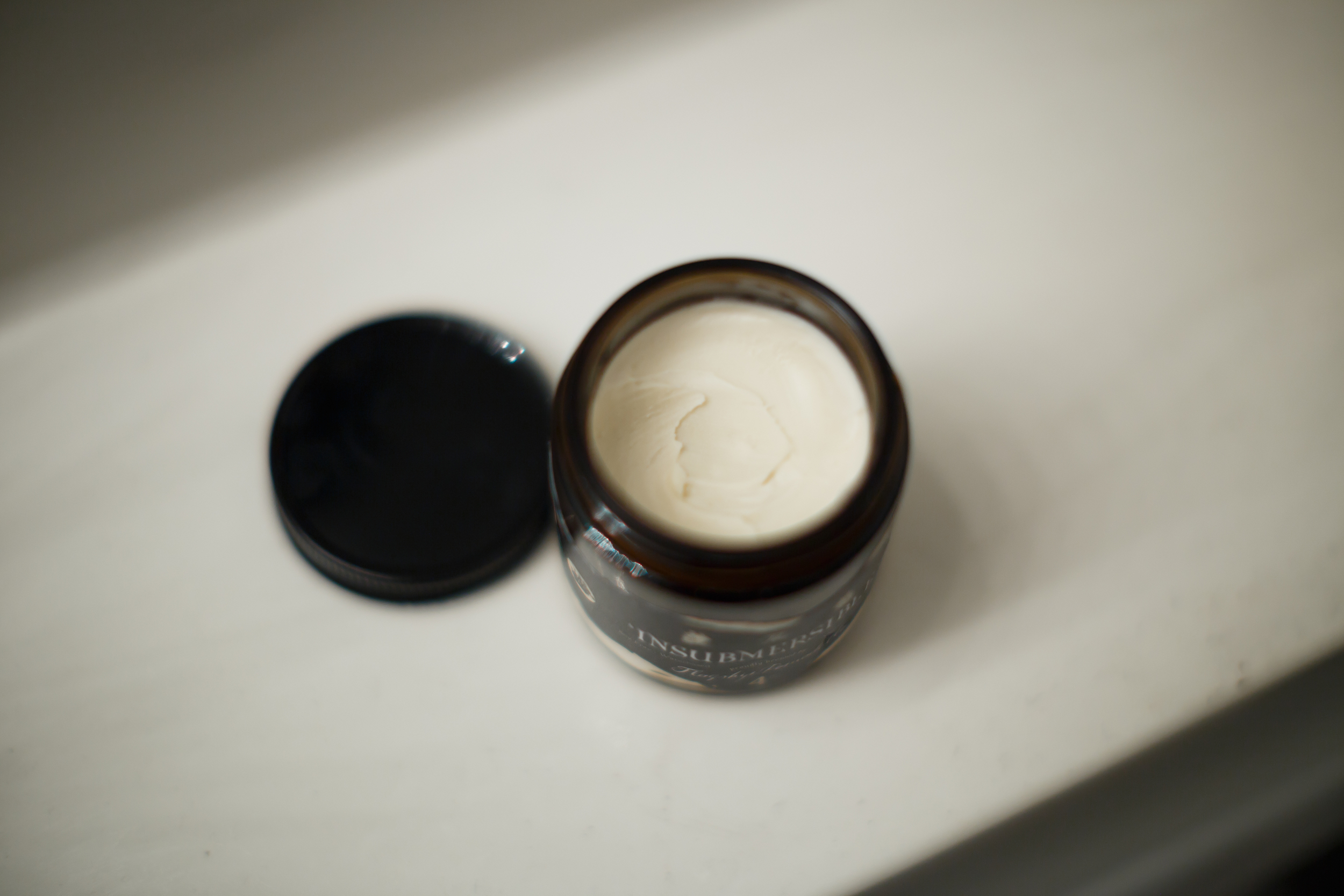 Flagship Pomade Company Insubmersible Review by The Pomp | Thank You Based Pomp TYBP Water Based WB Opened Jar Product
