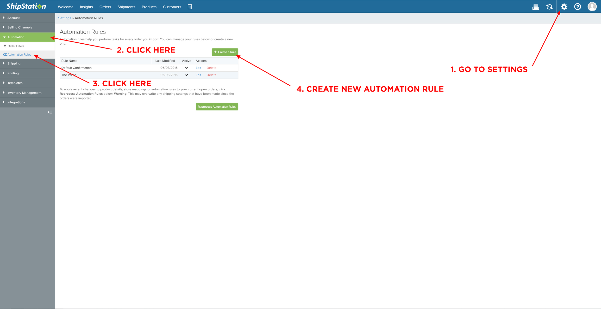 Create a new automation rule that will tag orders with multiple line items and apply necessary modifications to process.