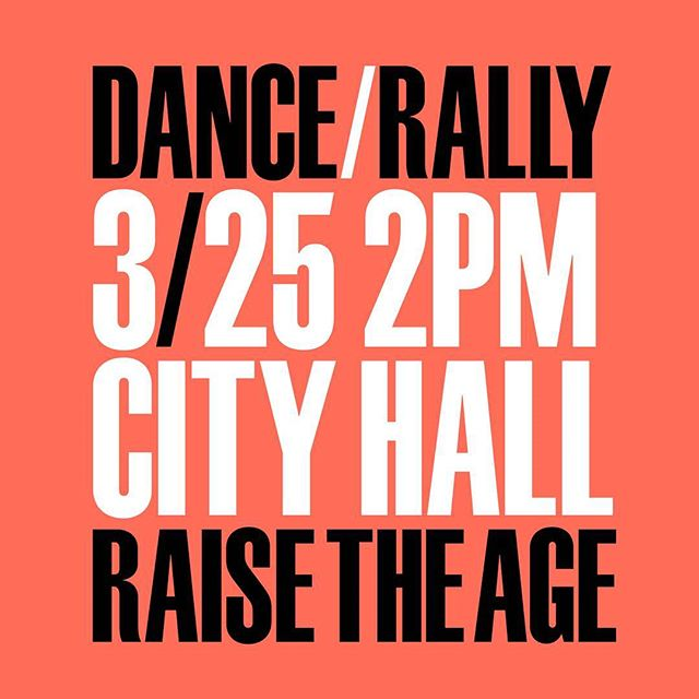 Getting so psyched to #danceforjustice tomorrow in support of #raisetheageny! Come join us! Be there by 1:45pm at the latest to join our #danceflashmob!  #raisetheage #raisetheageny #rally #danceflashmob #flashmob #flashrally #dancers #notjustfordancers #danceiswhatdemocracylookslike #puttingthemoveinmovement #blacklivesmatter #dance #protest #demonstration #design #civicengagement #justice #criminaljustice #criminaljusticereform #activism #activist #nyc #cityhall