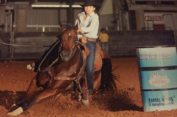 SAMS GUY TO THE DASH qualified for the Jr. NFR in Vegas with 13 year old Ryley Flores. $26,000+