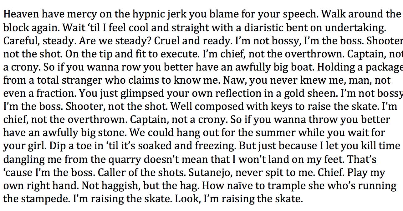 "the original lyric sheet to ""Raising the Skate"" off  Foil Deer"