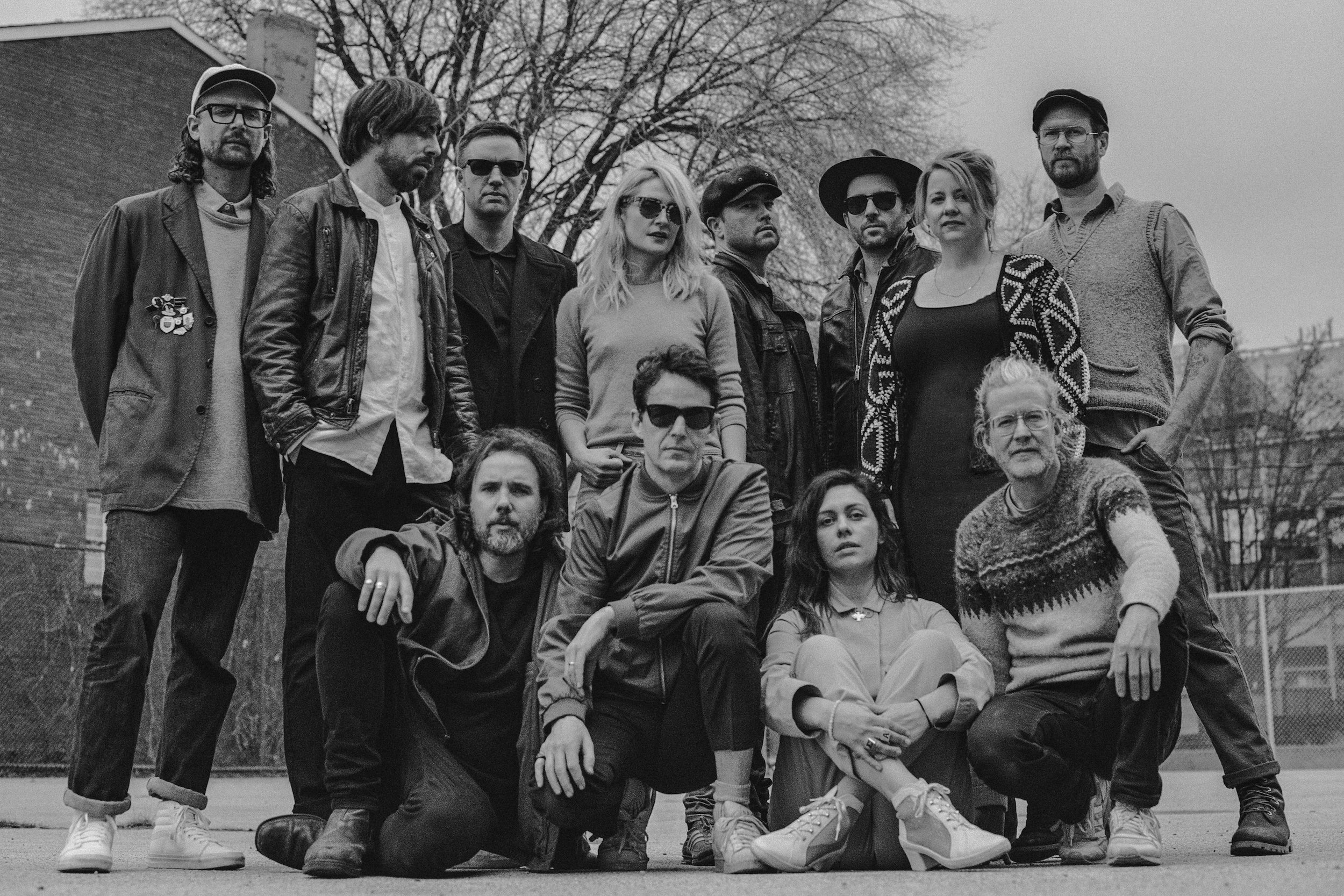 Broken Social Scene, with Canning on bottom right. photo by Norman Wong.
