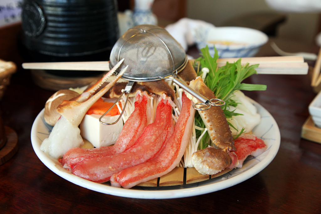 A plate of succulent crab legs. Image by  S. Yume .