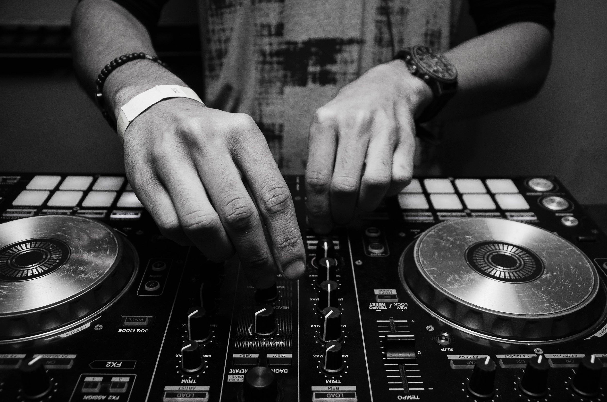 Wedding DJ mixing