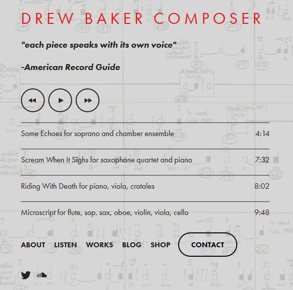 drew baker homepage