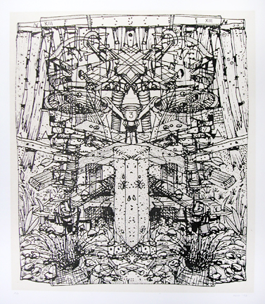 Garden • Etching with chine colle • 15.5 inches x 13 inches • $550