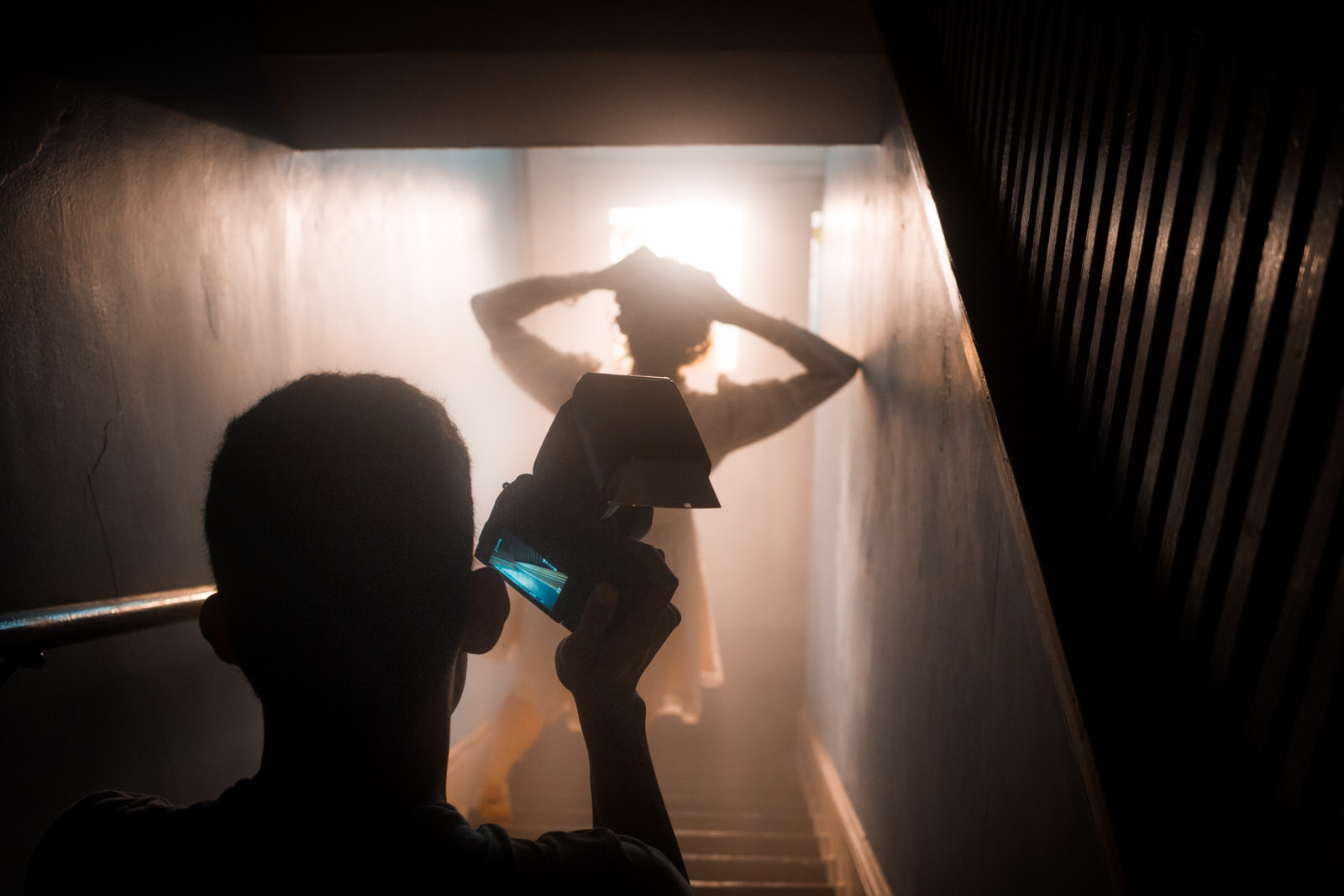 I switched my speedlight off and let the Arri light create a beautiful silhouette for this shot.