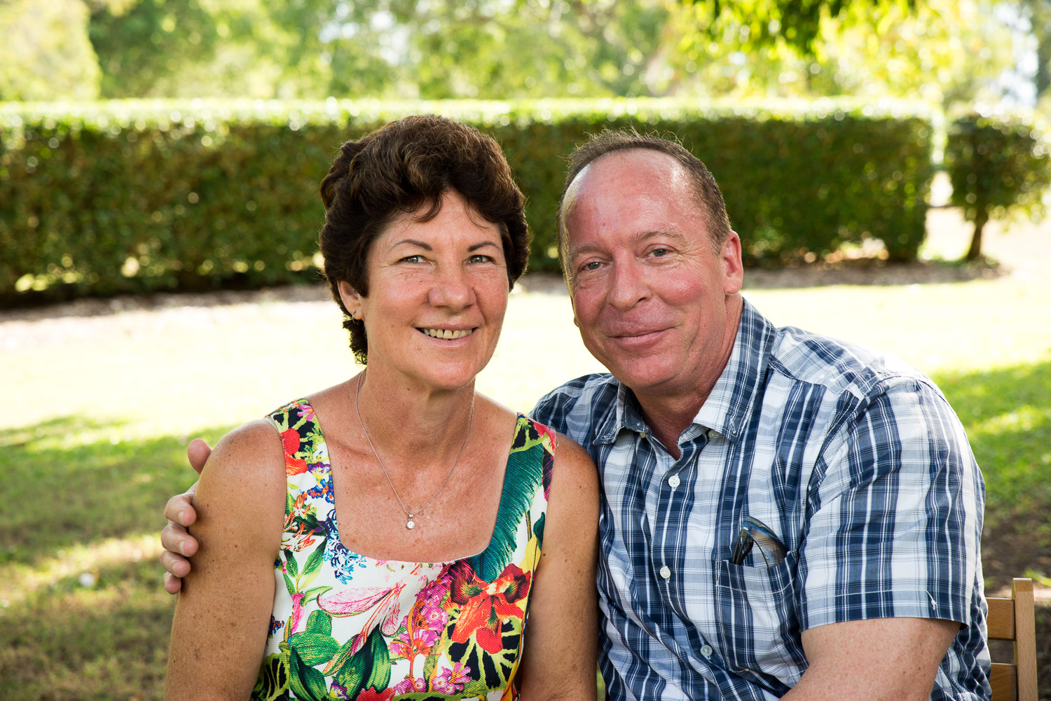older couple outdoor portrait