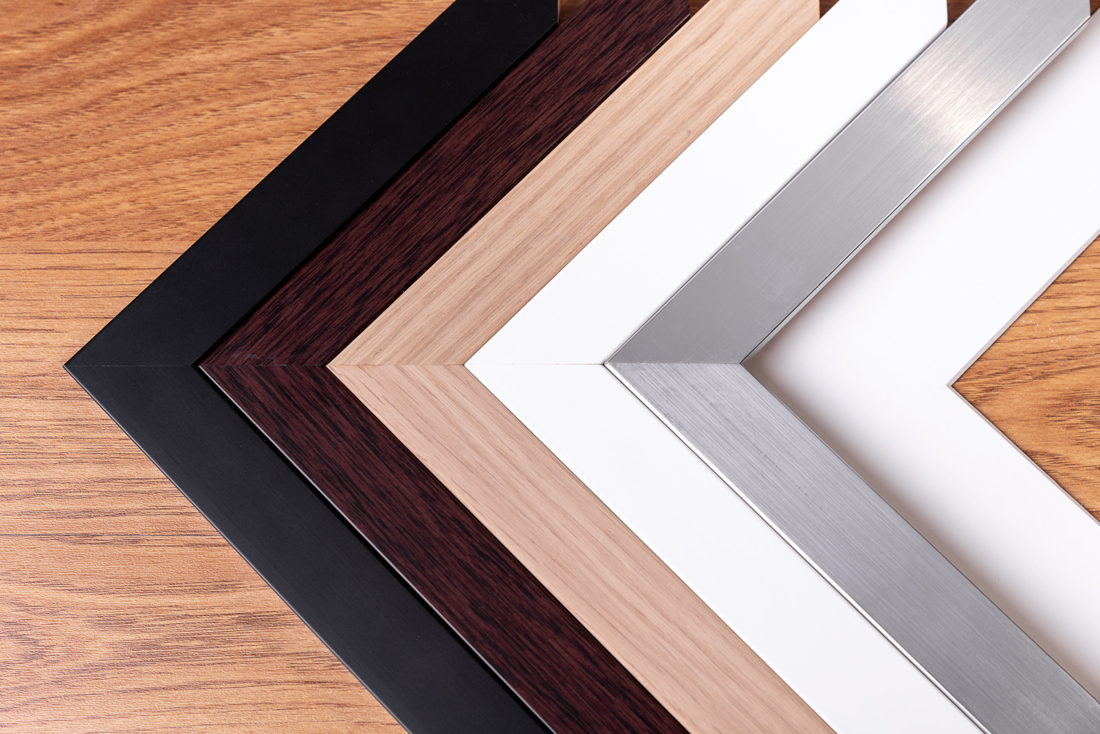 Close up of timber frame colours