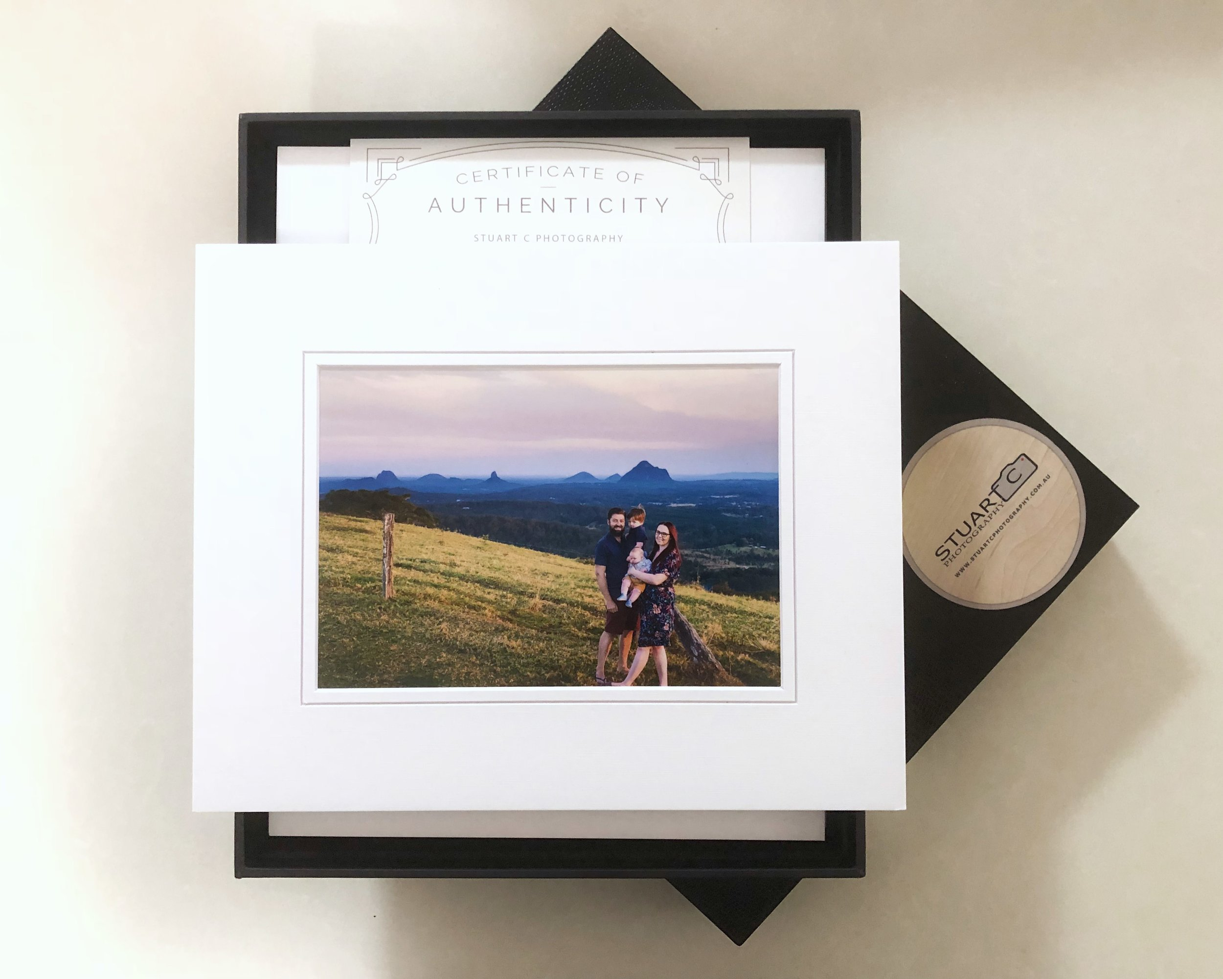 Portrait Box of Matted Prints from Stuart C Photography, Caboolture Outdoor Family Photographer