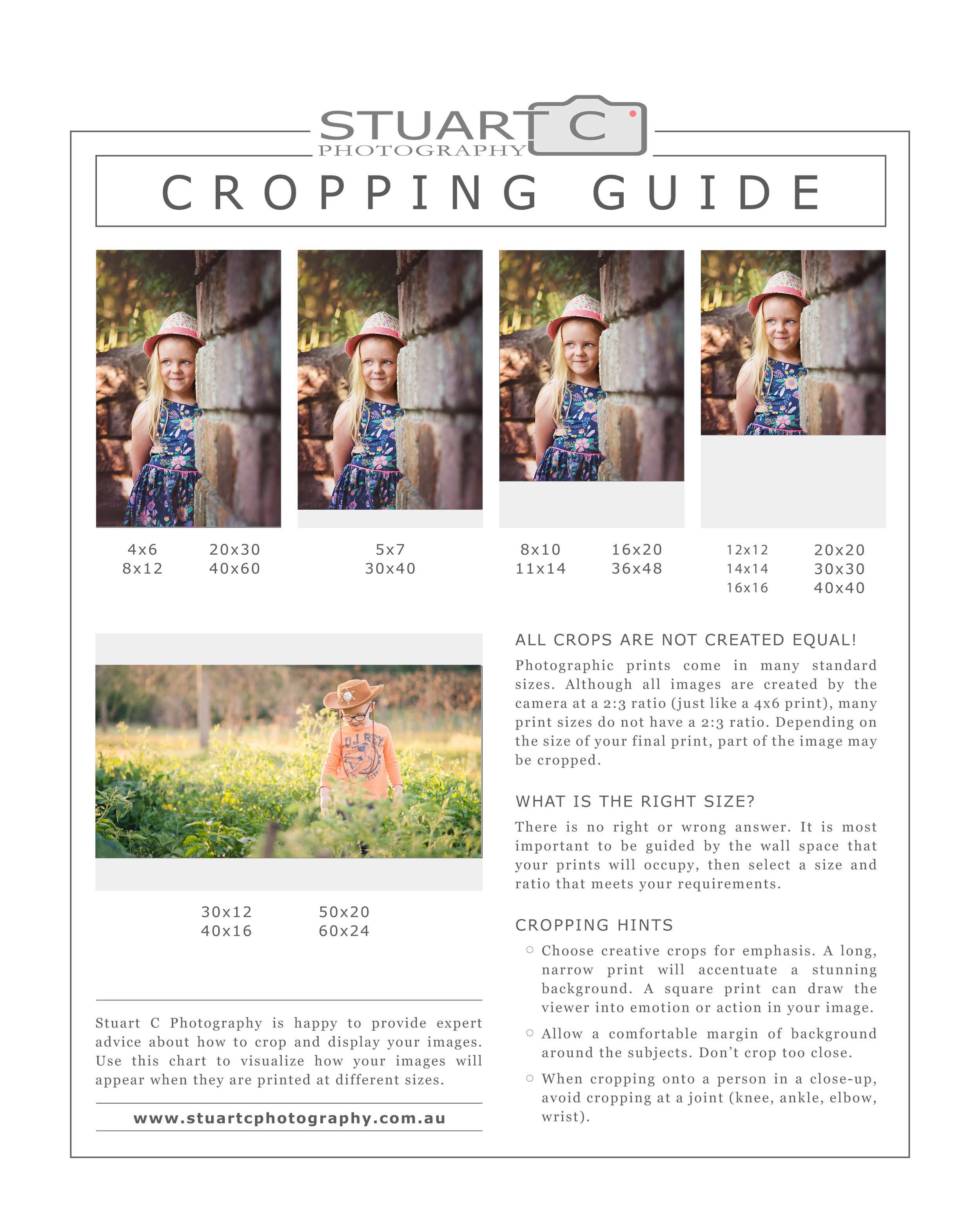 Cropping guide | How each photo format affects the crop of your image.