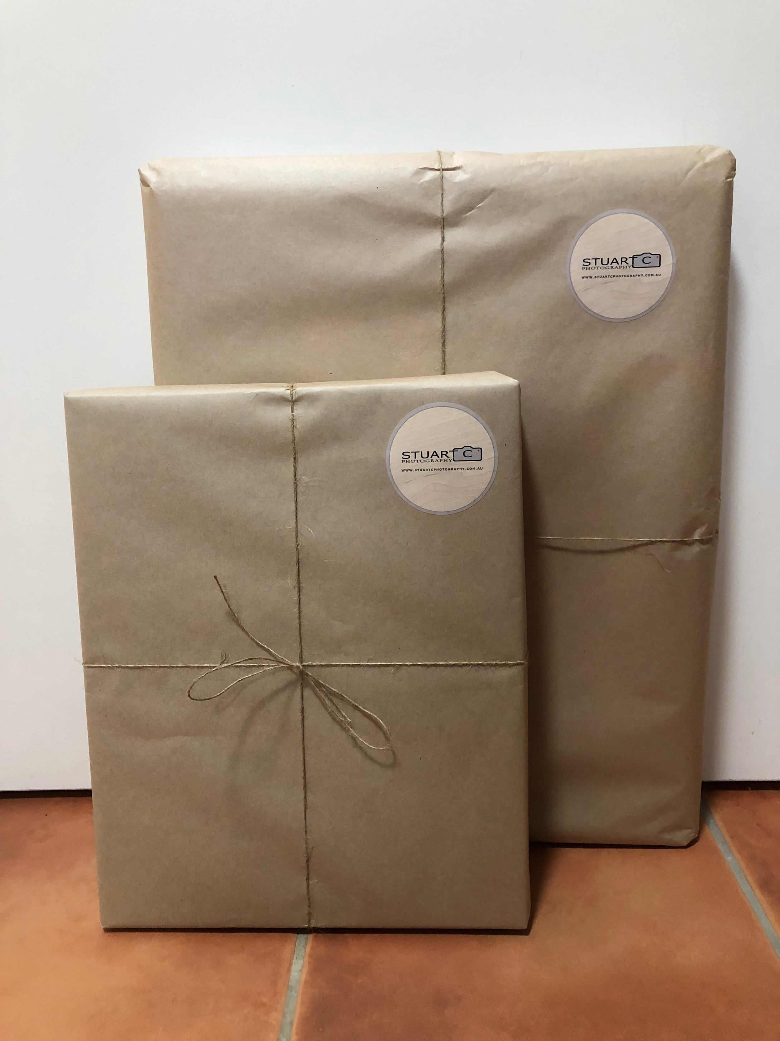 Prints and Canvas wrapped up ready to deliver