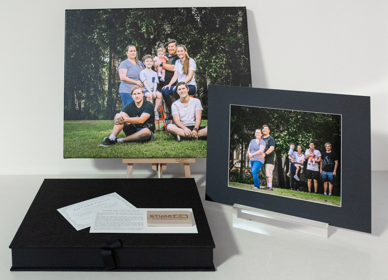Canvas Print with box of Matted Prints