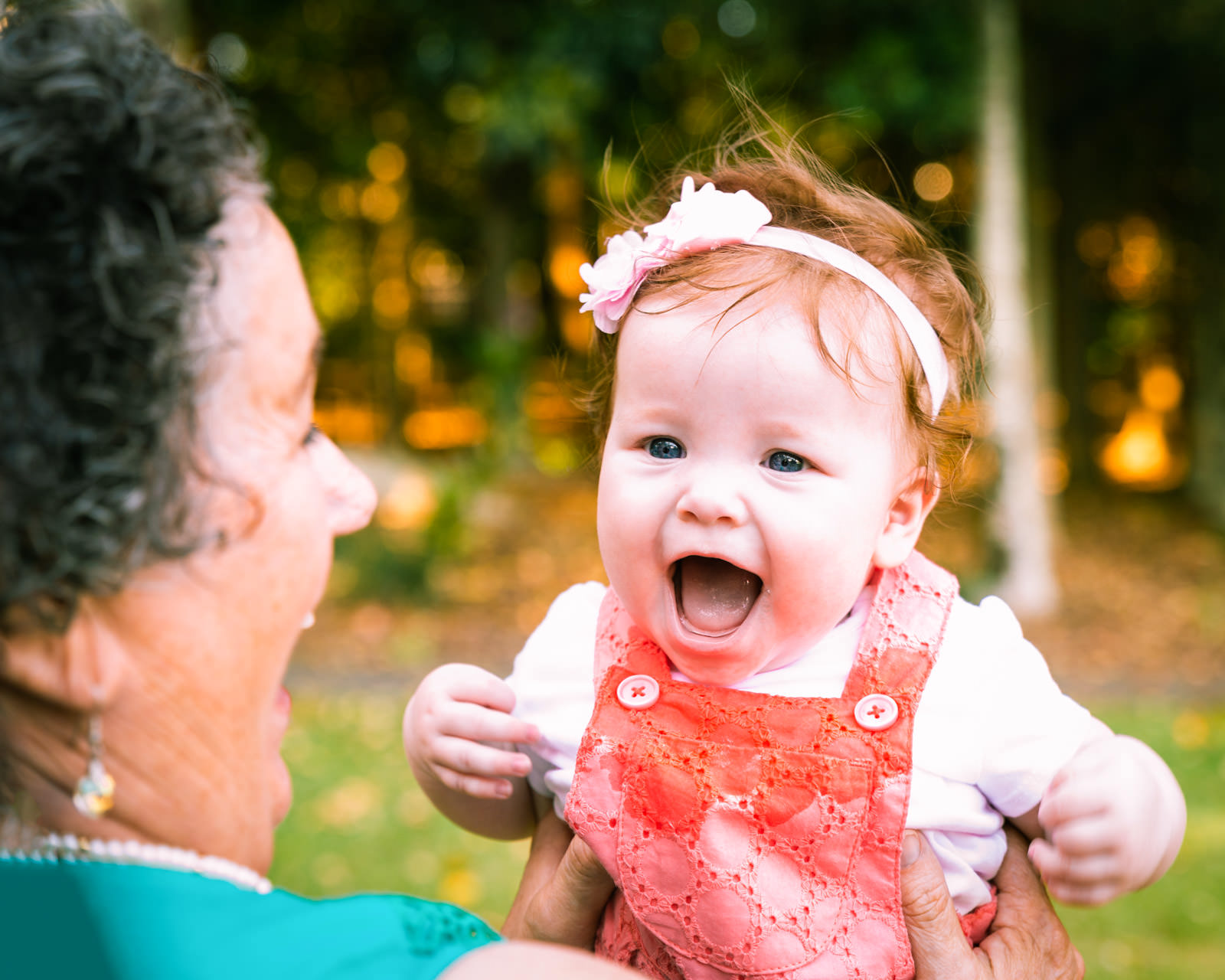 grandmother and grandaughter portrait in centenary lakes caboolture
