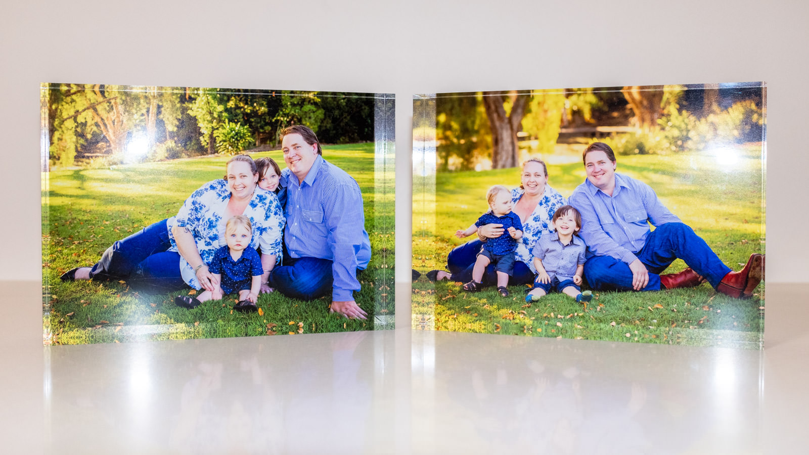 Acrylic tiles with printed image