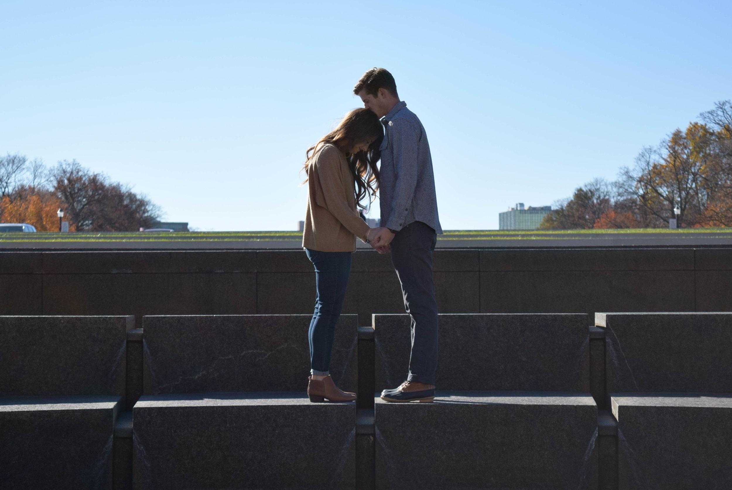 Caroline + Clay | Fall 2016 | World War I Museum | Engagement Session