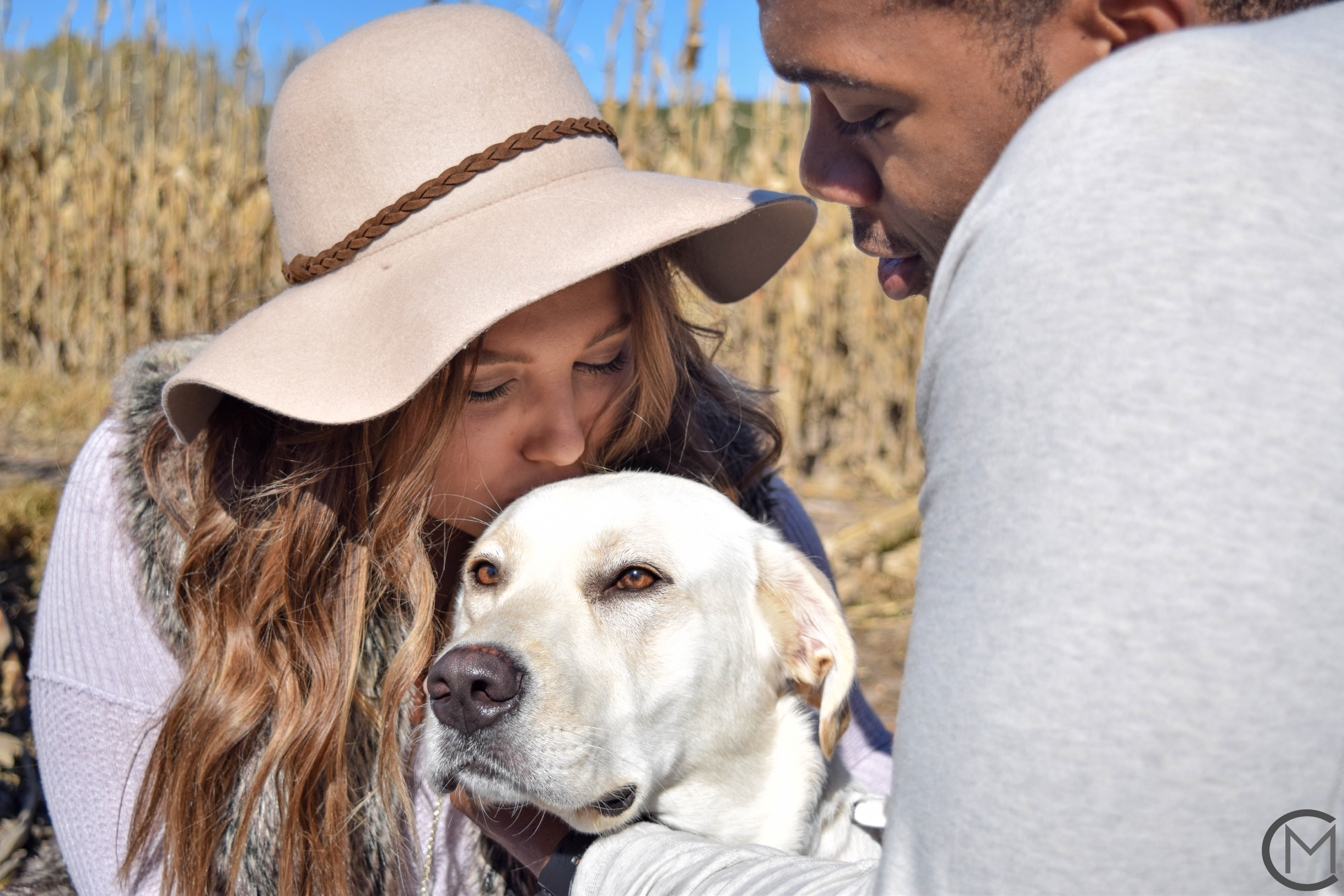 Sydney + Braxton (+ Hazel Pup) | Fall 2017 | Britt's Farm | Couples Session
