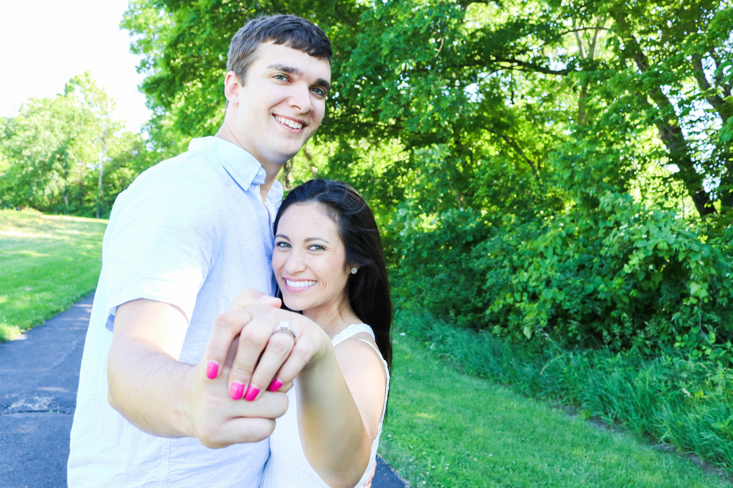 Brianna + Michael | Summer 2018 | Shawnee Mission Park Trail | Engagement Session