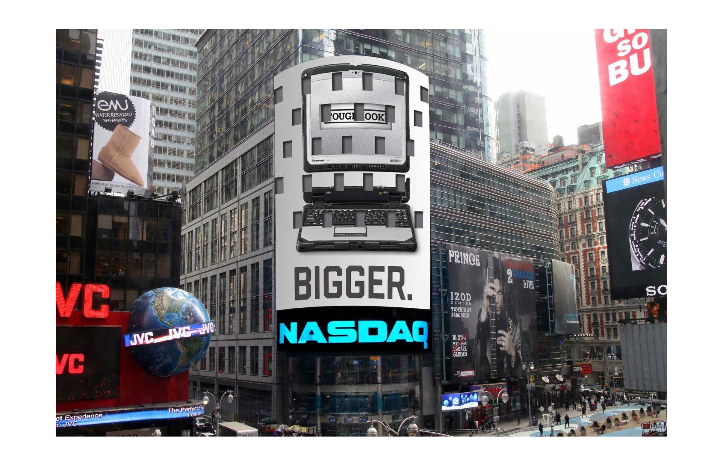 Times Square Nasdaq board
