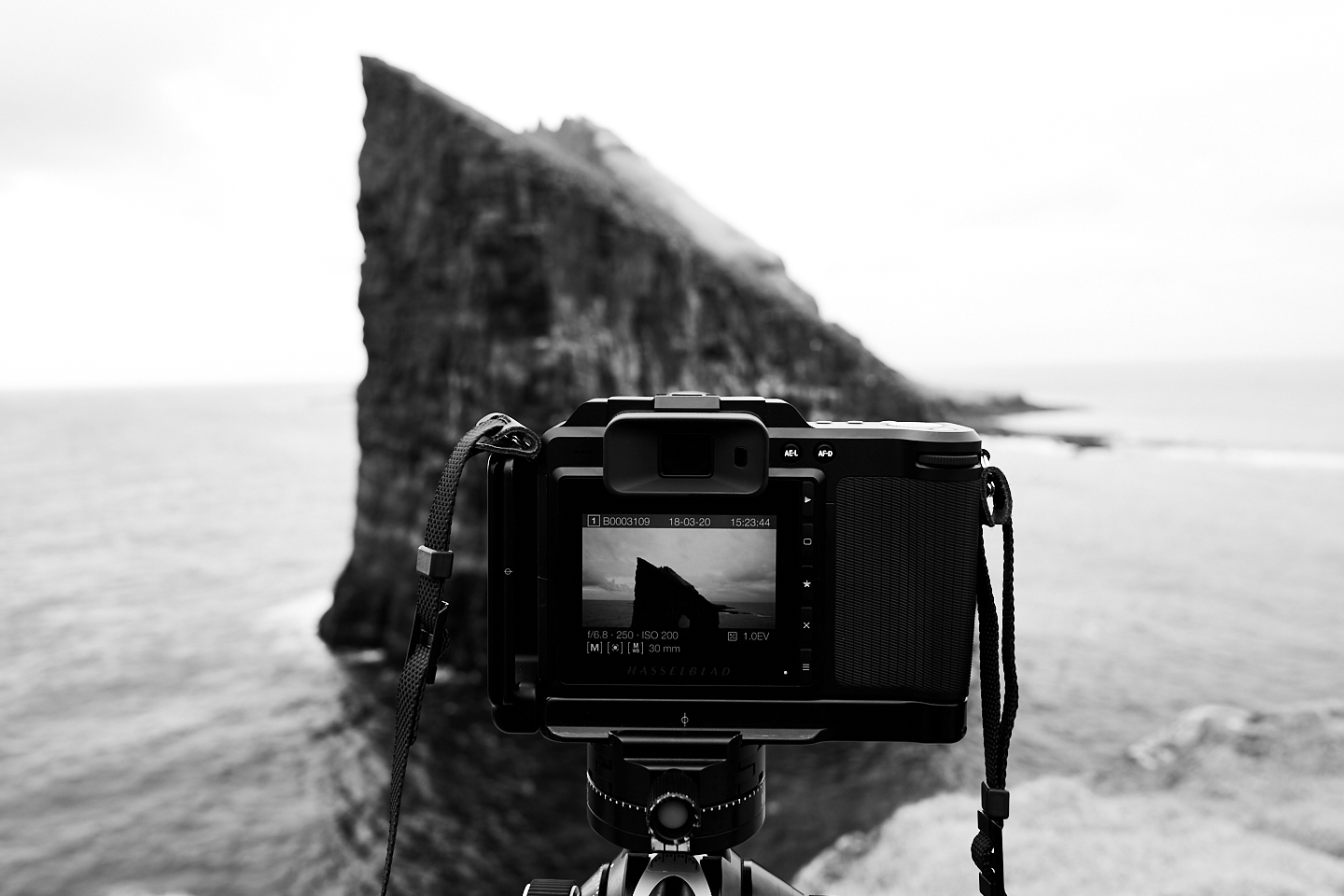"""Behind the scenes from one of my favorite locations """"Drangonir""""with 5 hours roundtrip hike! / Hasselblad X1D +30mm"""