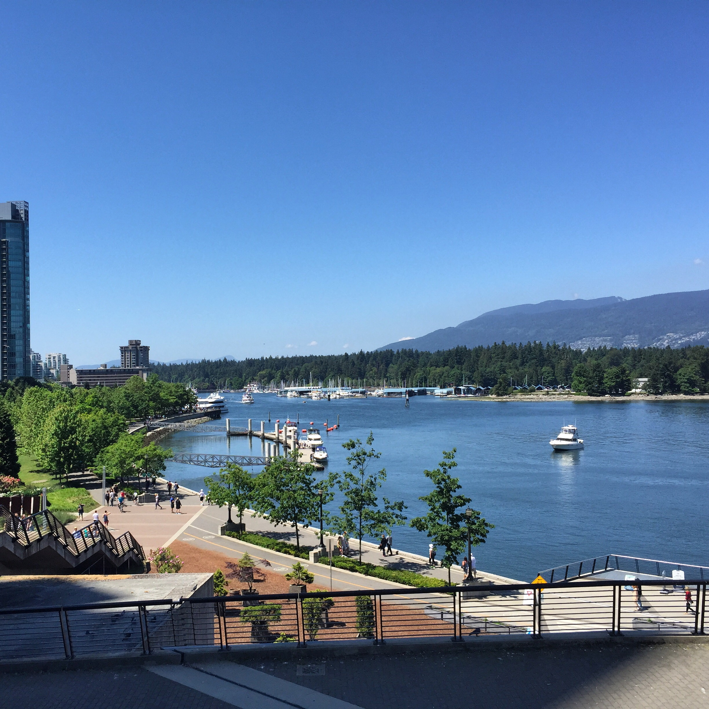 A picture of Stanley Park from my Adventures with Rob yesterday. Perfectly captures the beautiful weather of this weekend.