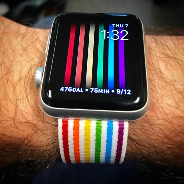 WOO! My new Apple Watch band arrived! #soexcited #pridemonth #applewatch