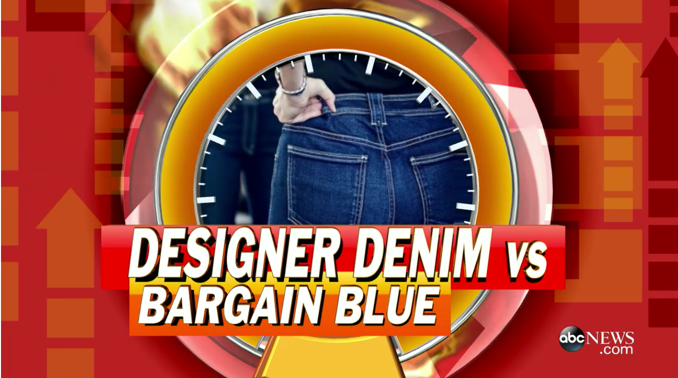 "GMA"" puts denim to the test to judge the difference between super-chic and super-cheap"