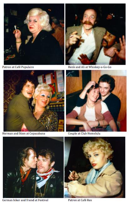 Polaroid Portraits in the bars of Amsterdam, 1979/1980