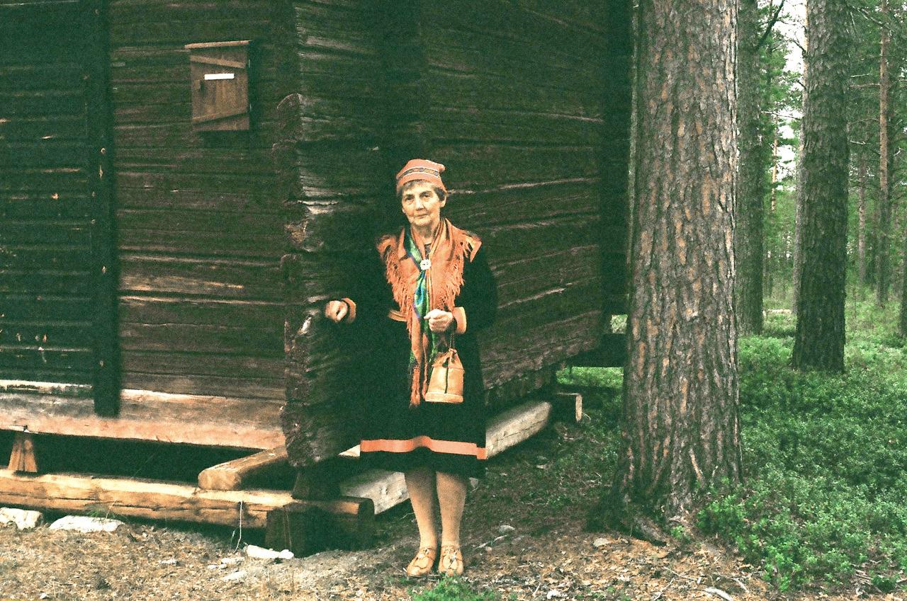 Sapmi woman, Lappland Sweden