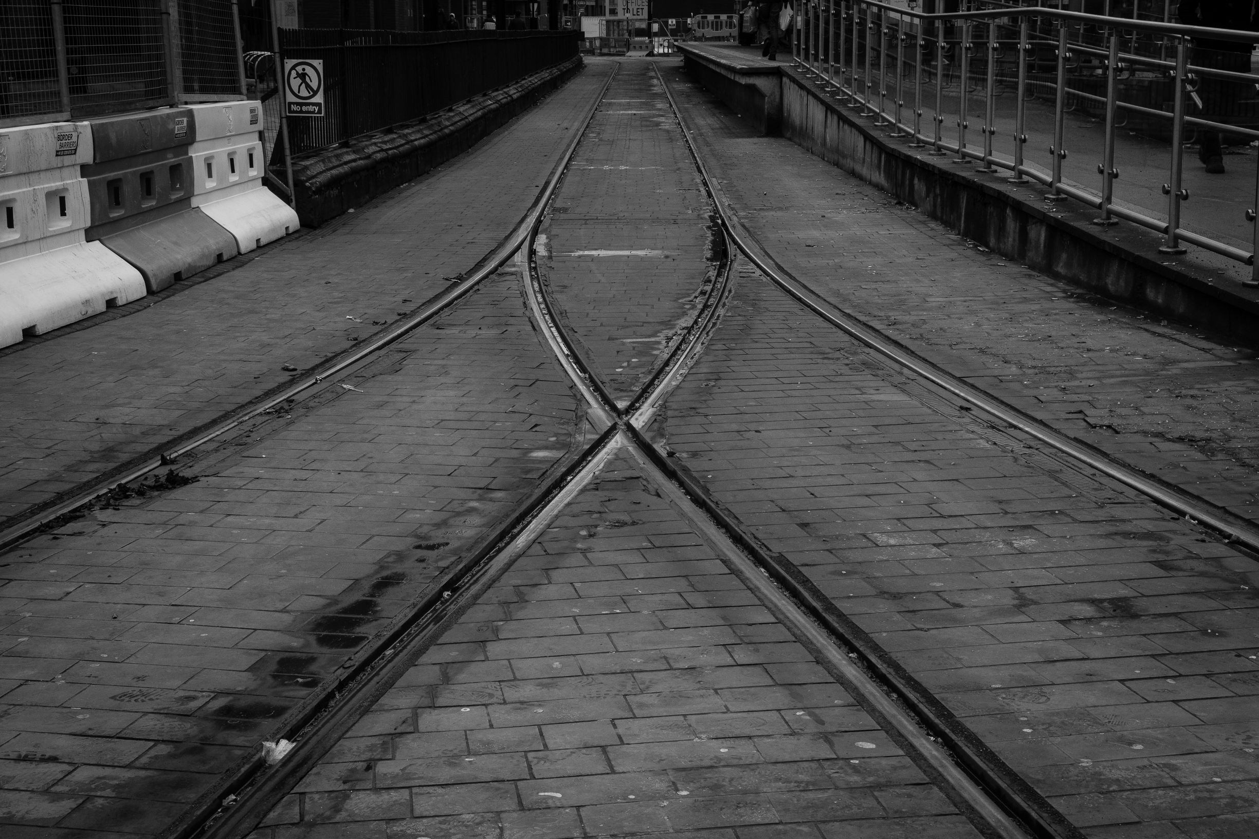 Railway lines, a common example of lines being used as a compositional element or the subject of a photo itself. However with being commonly used it also risks becoming cliché. One of the challenges of taking a good photo is using common elements in a new way.