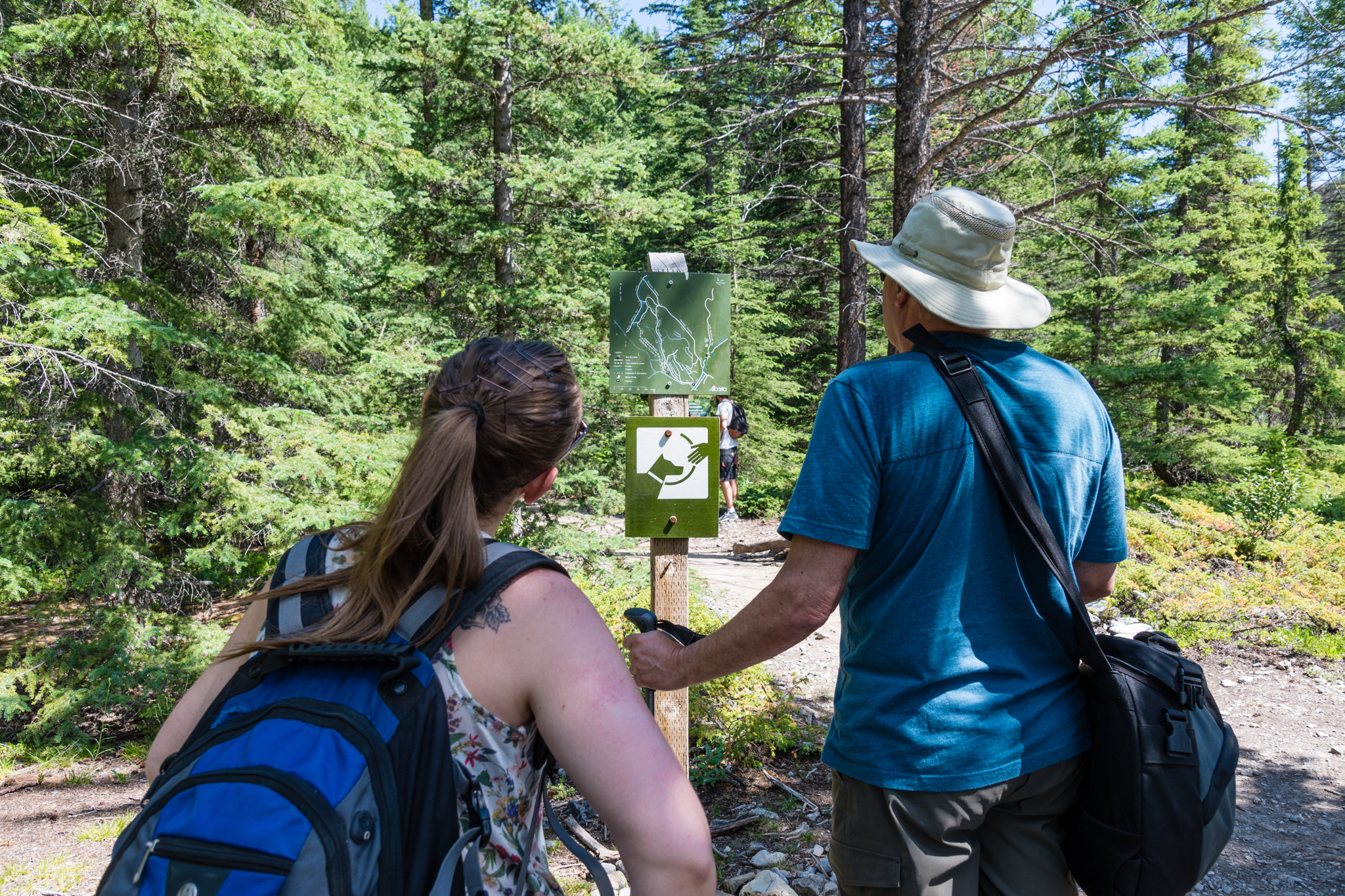 As Mount Lady MacDonald is outside of the national park, the trail signing isn't very good.  Although the hike is still relatively straight forward.