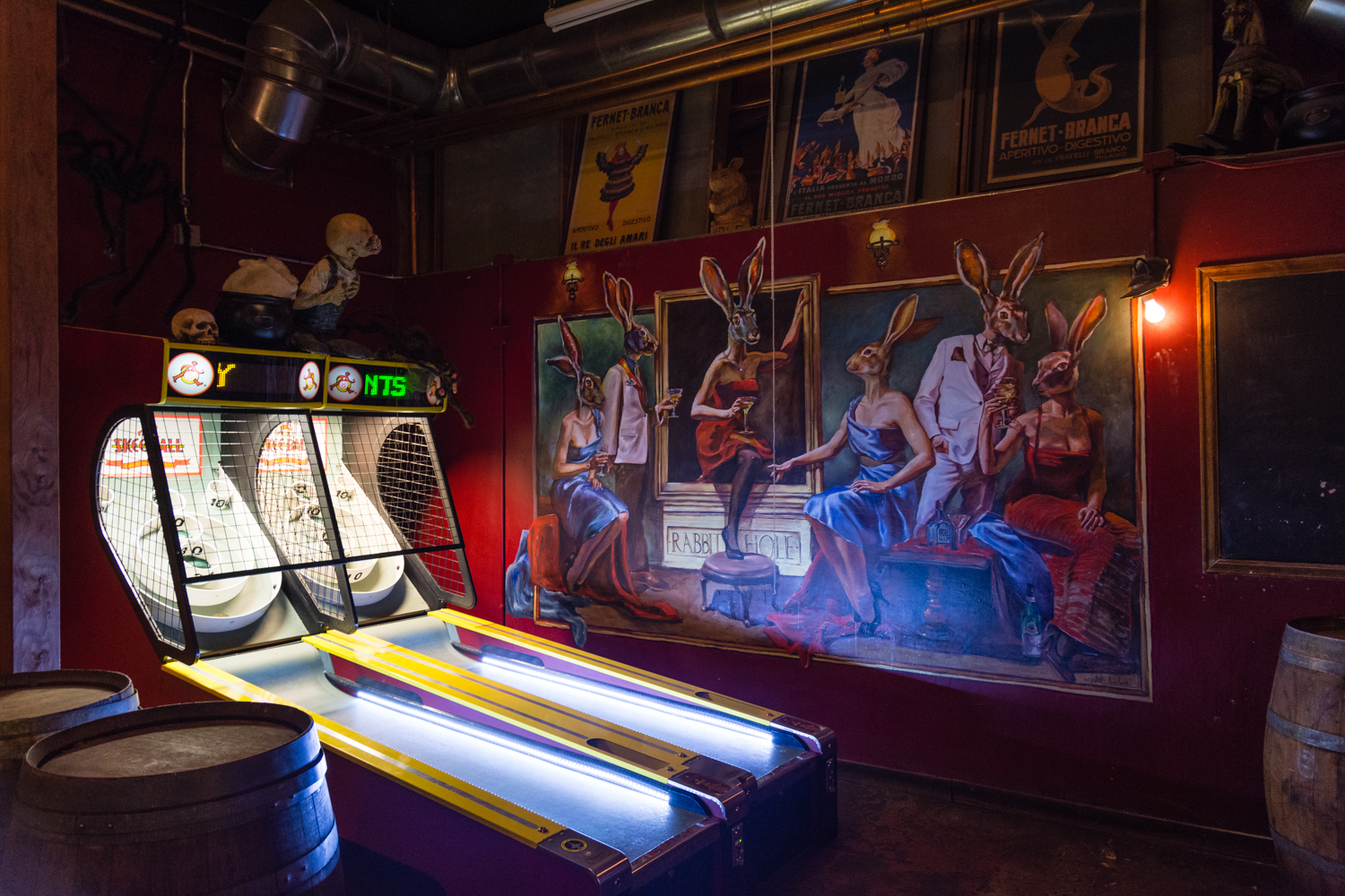 Skee ball, a popular past time in the US