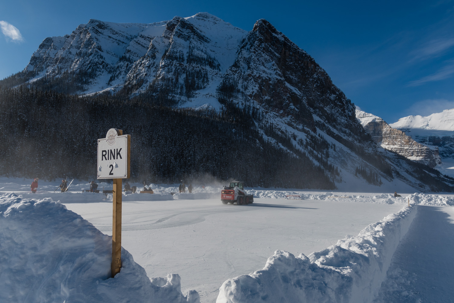 An annual ice hockey tournament, being held in the highest and arguably the most beautiful town (hamlet) in Canada.