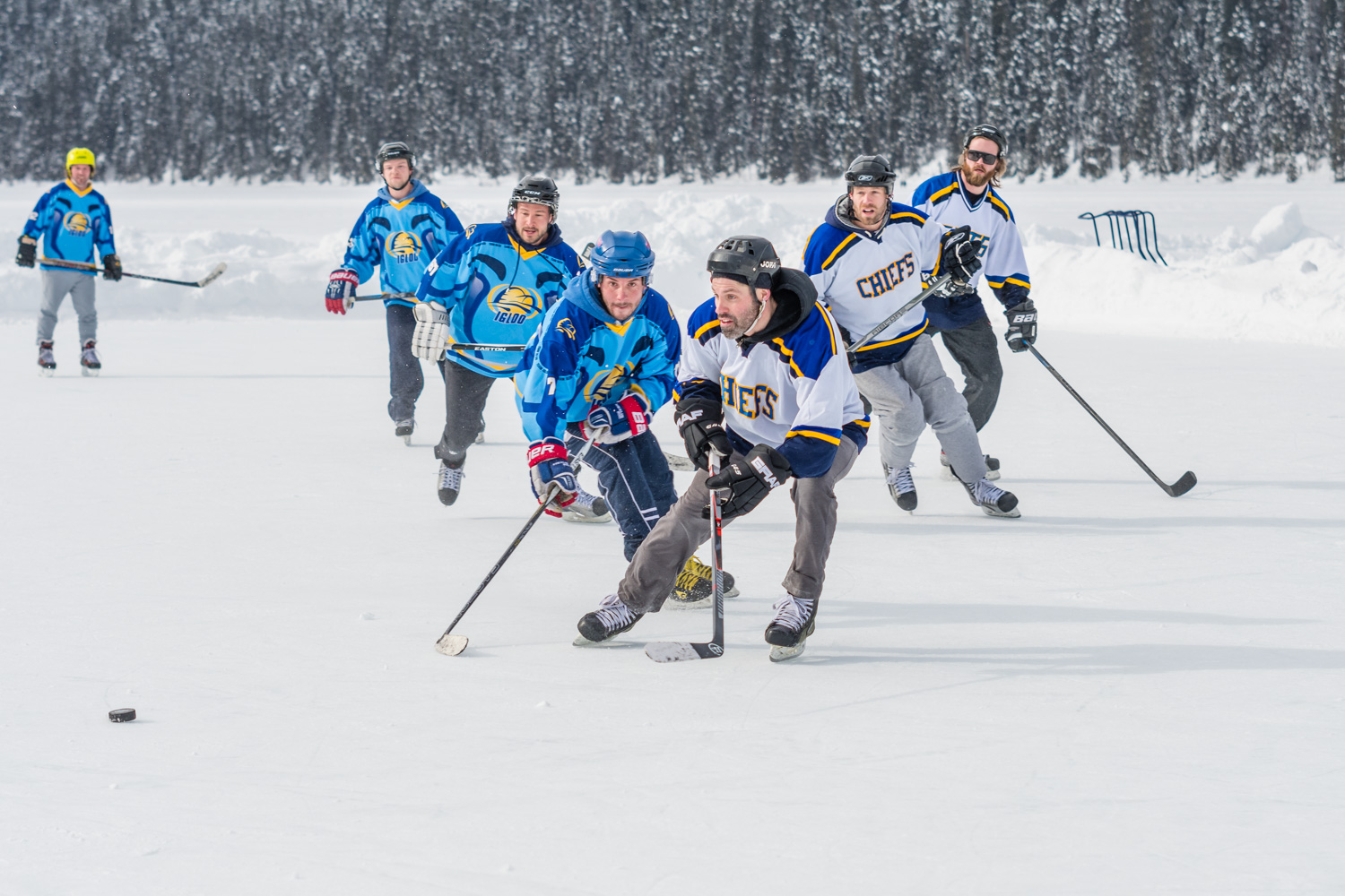 The semi finals of the Lake Louise pond hockey tournament. Another one of my favourite photos.