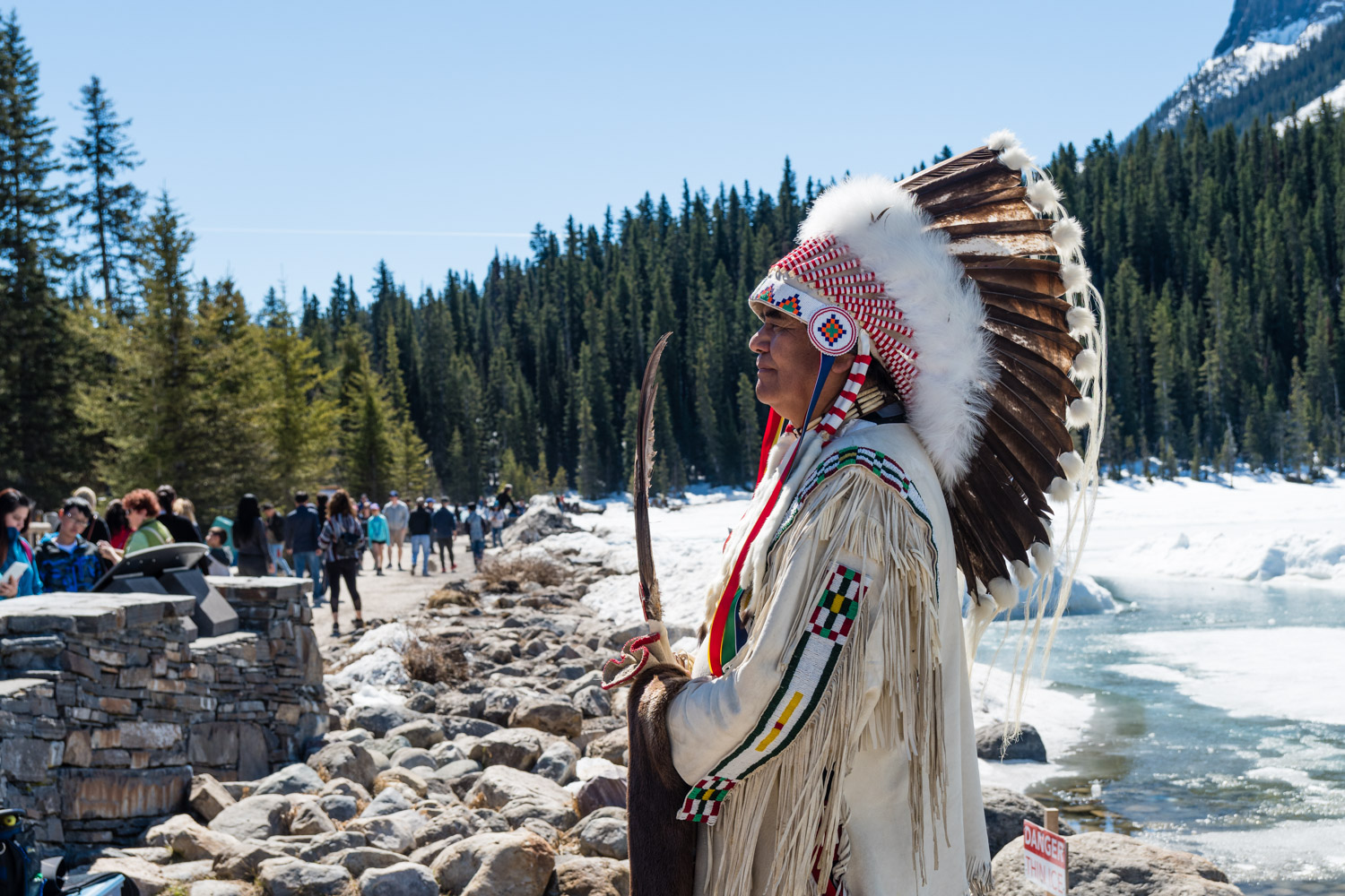 The Indian Chief. He was from the Stoney Nakoda Tribe.