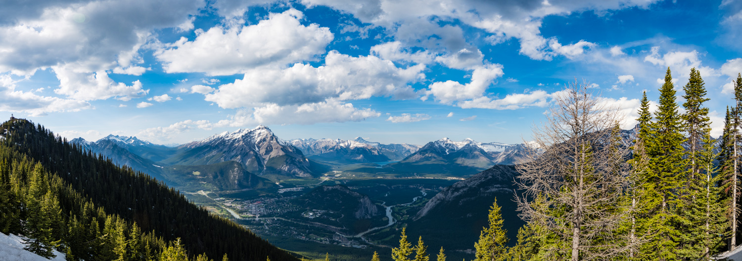At the top of Sulphur Mountain.