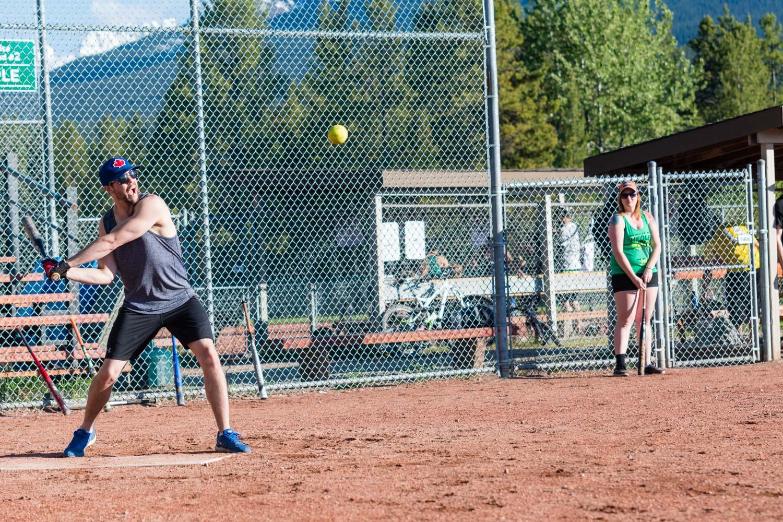 Early season softball photos.
