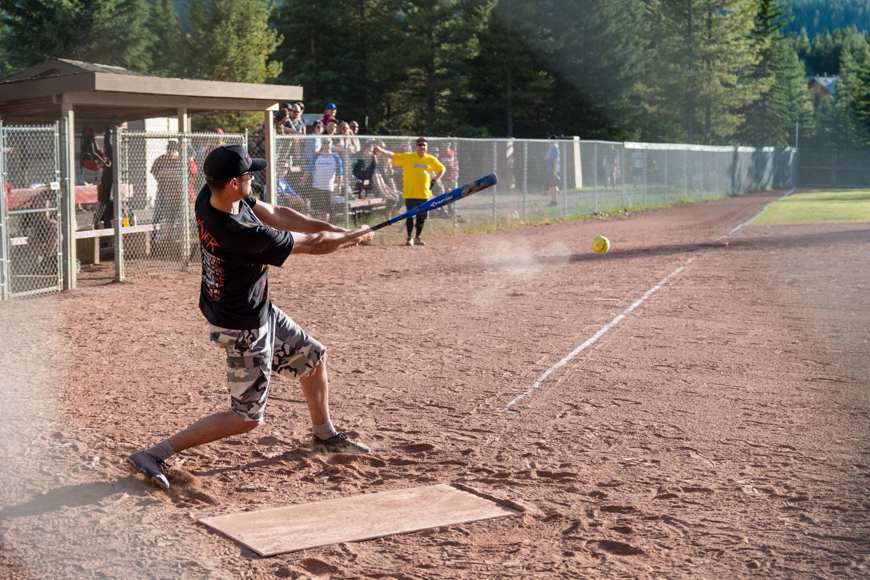 More softball action.