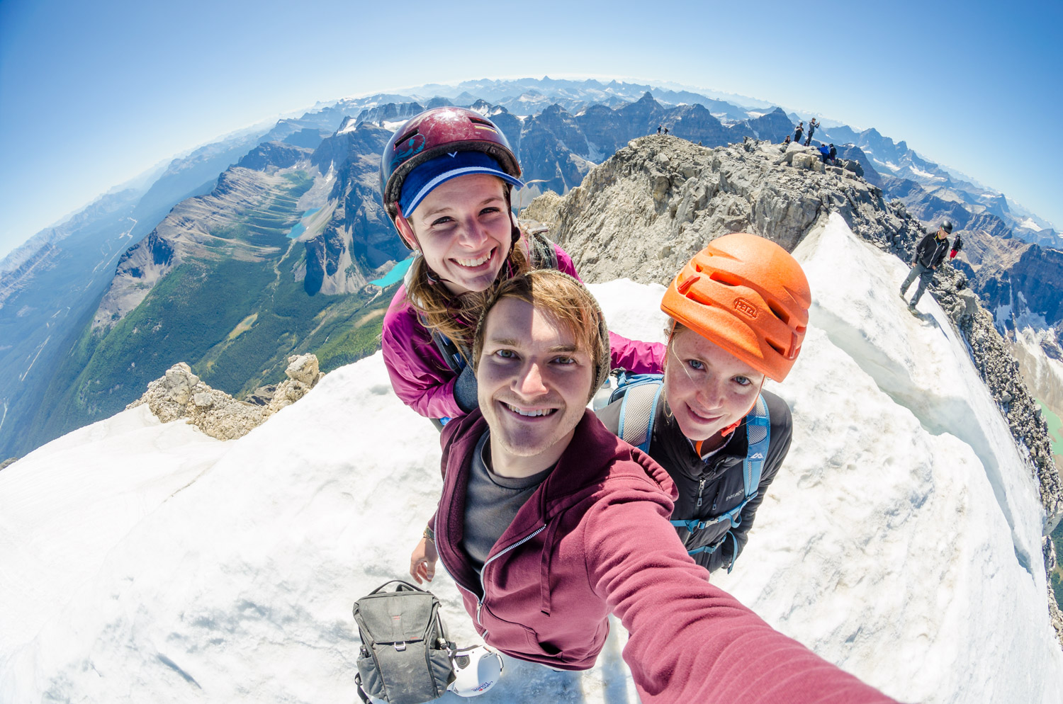 Selfie on top of the ice cap. That feeling you get when you conquer a big peak makes the struggle totally worth it.