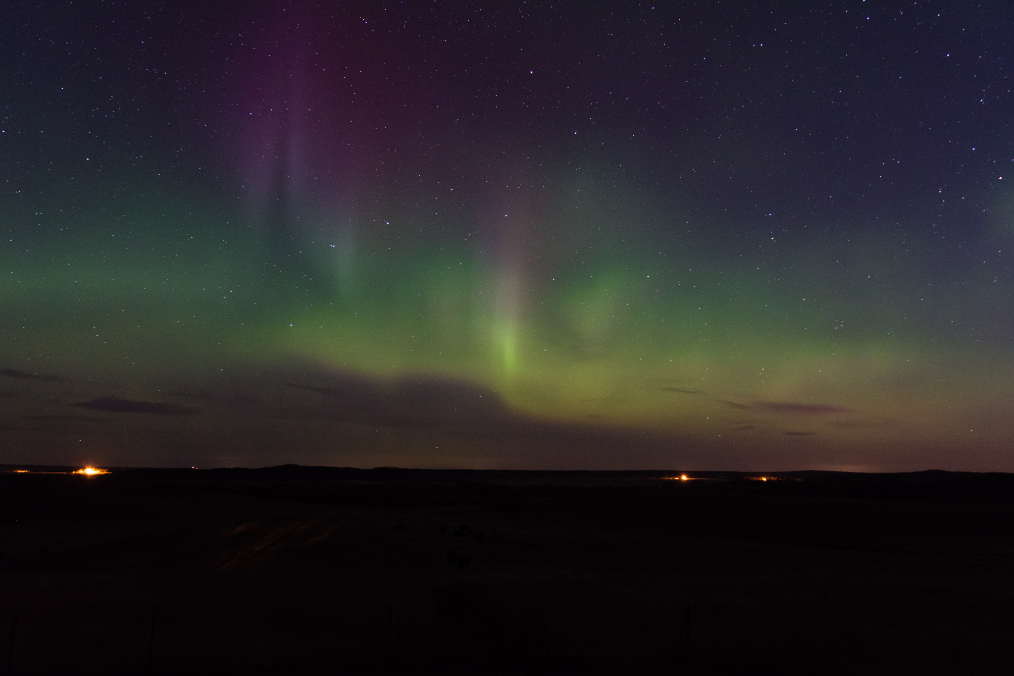 Even here, you can see the northern light.
