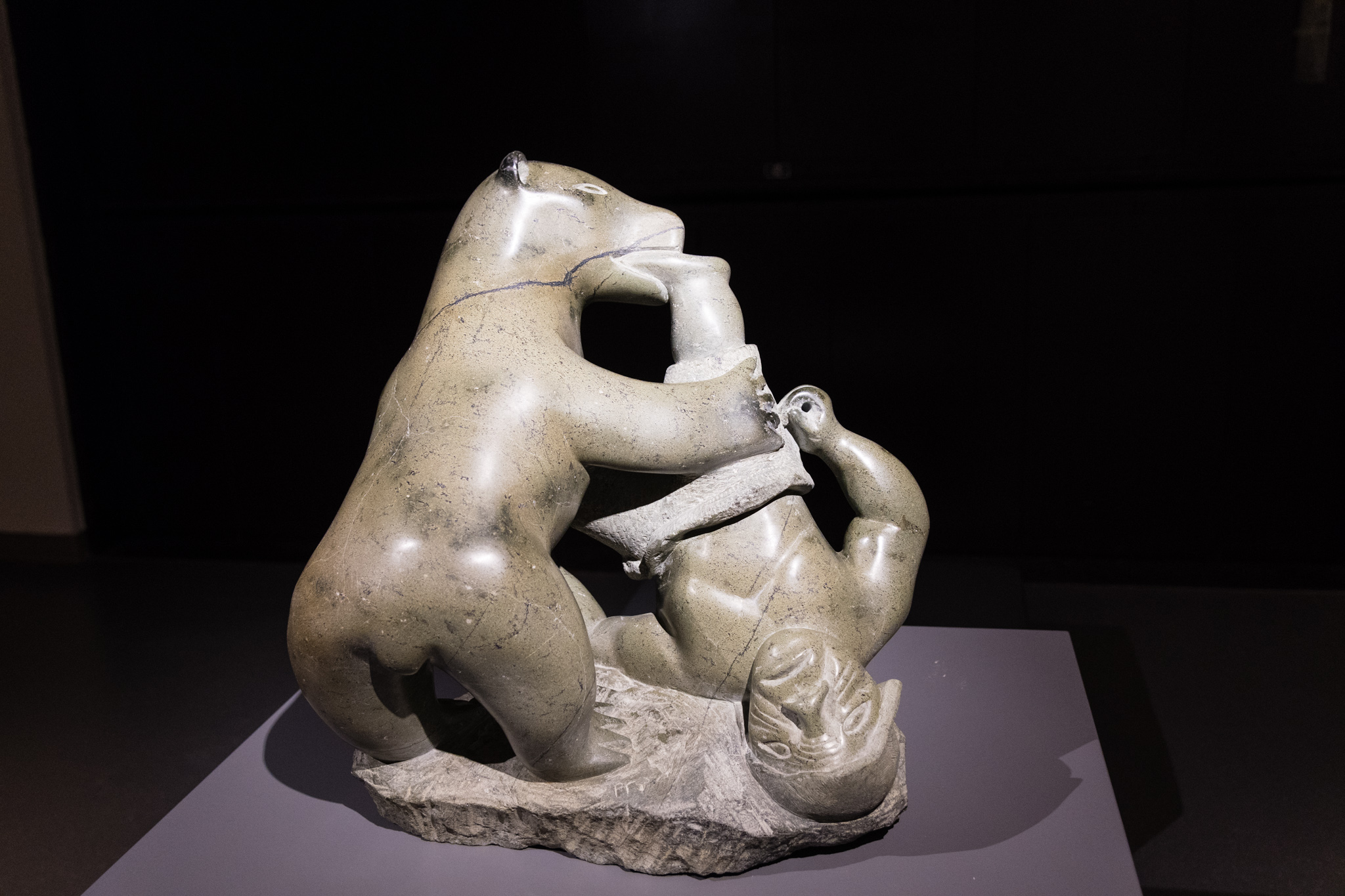 Now entering an local art gallery, exhibiting Inuit art. Out of all the major cities in Canada, Winnipeg seems to have the closest connection to great north.