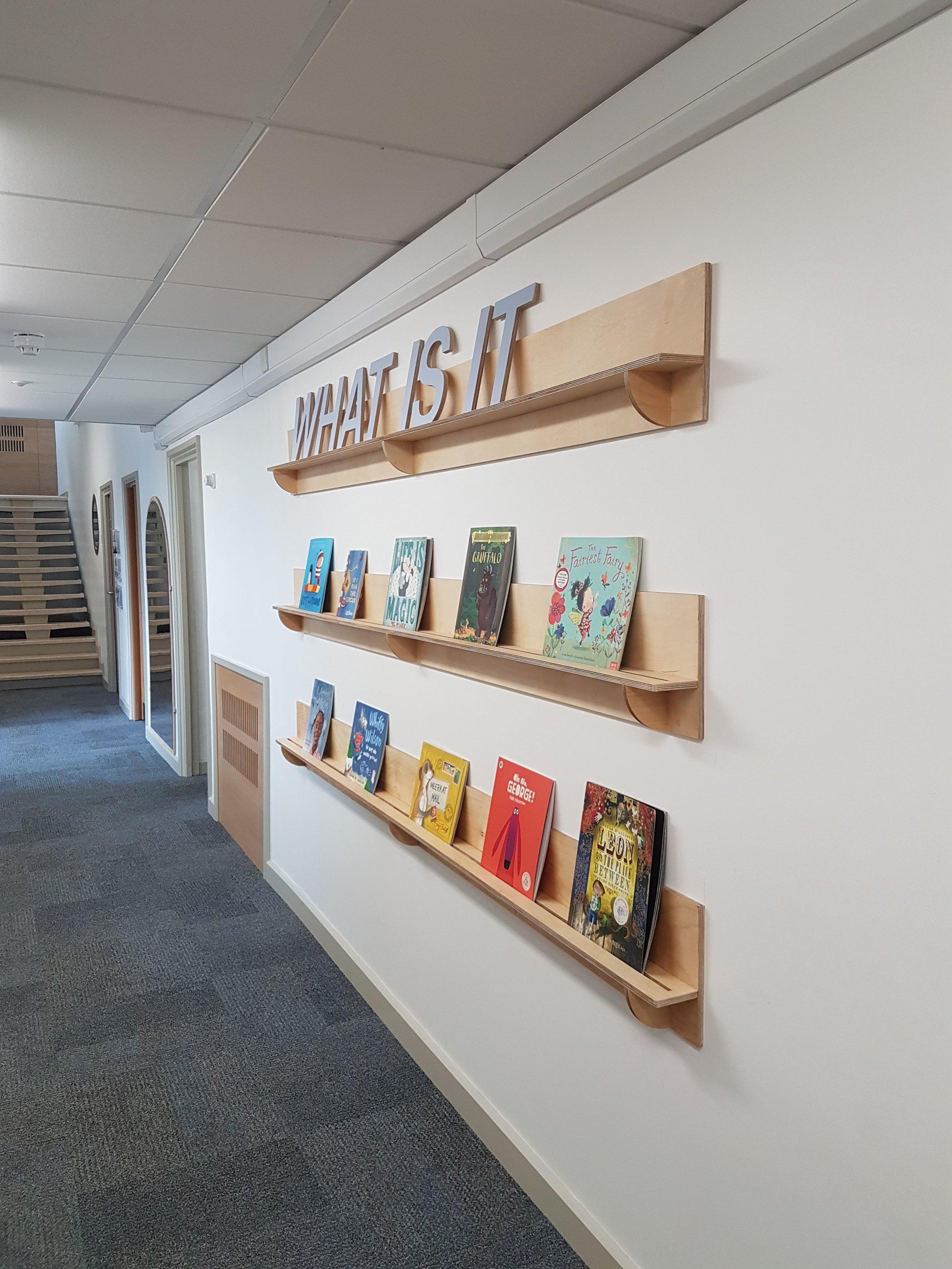 Slim book shelves