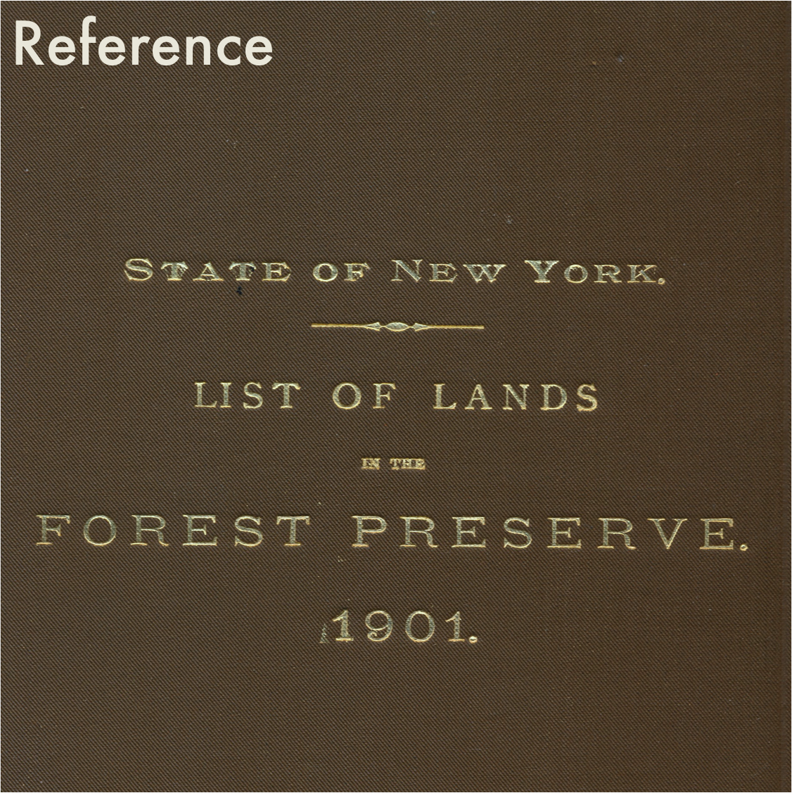 The office bookshelves contain a small reference collection focused on county and regional history, social and natural.