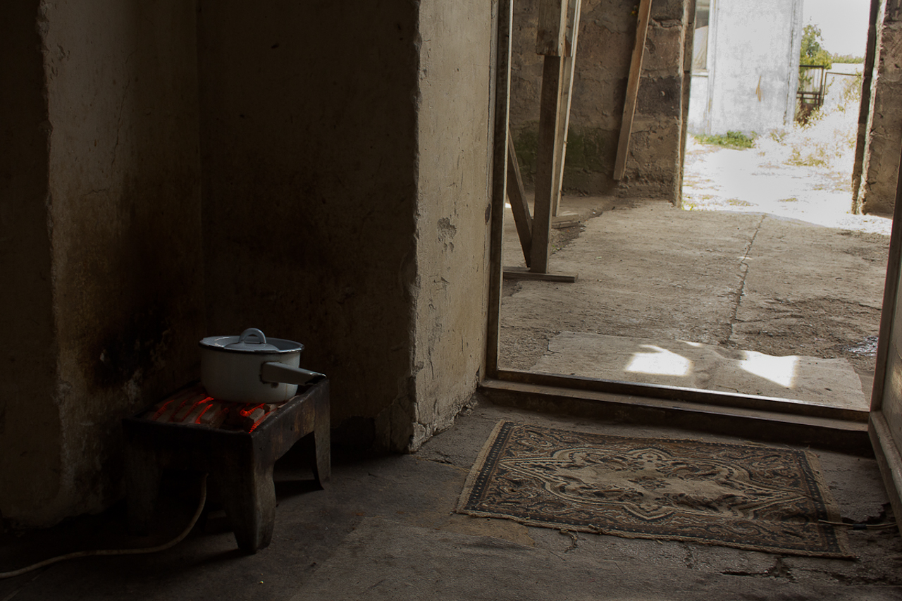 This is a kitchen in a house. Armeinan most of the time are poor but they will open their house and share what they have with you.