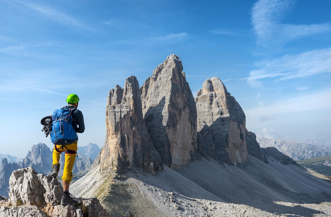 View of Tre Cime from Paternsattel