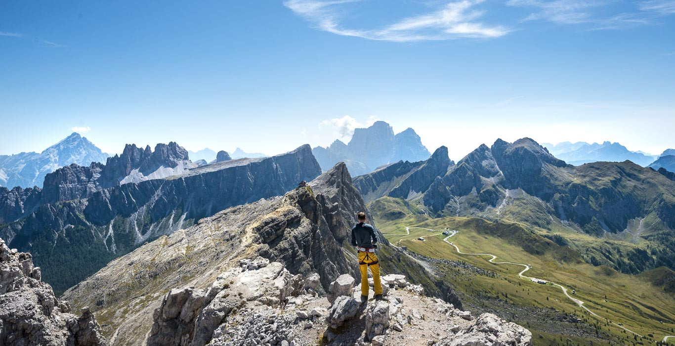 Ausblick vom Gipfel des Averau