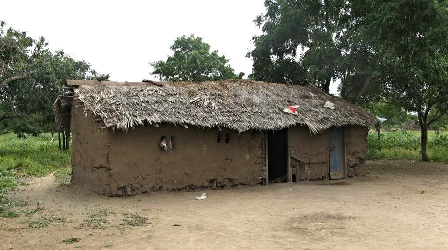 A typical Maasai home