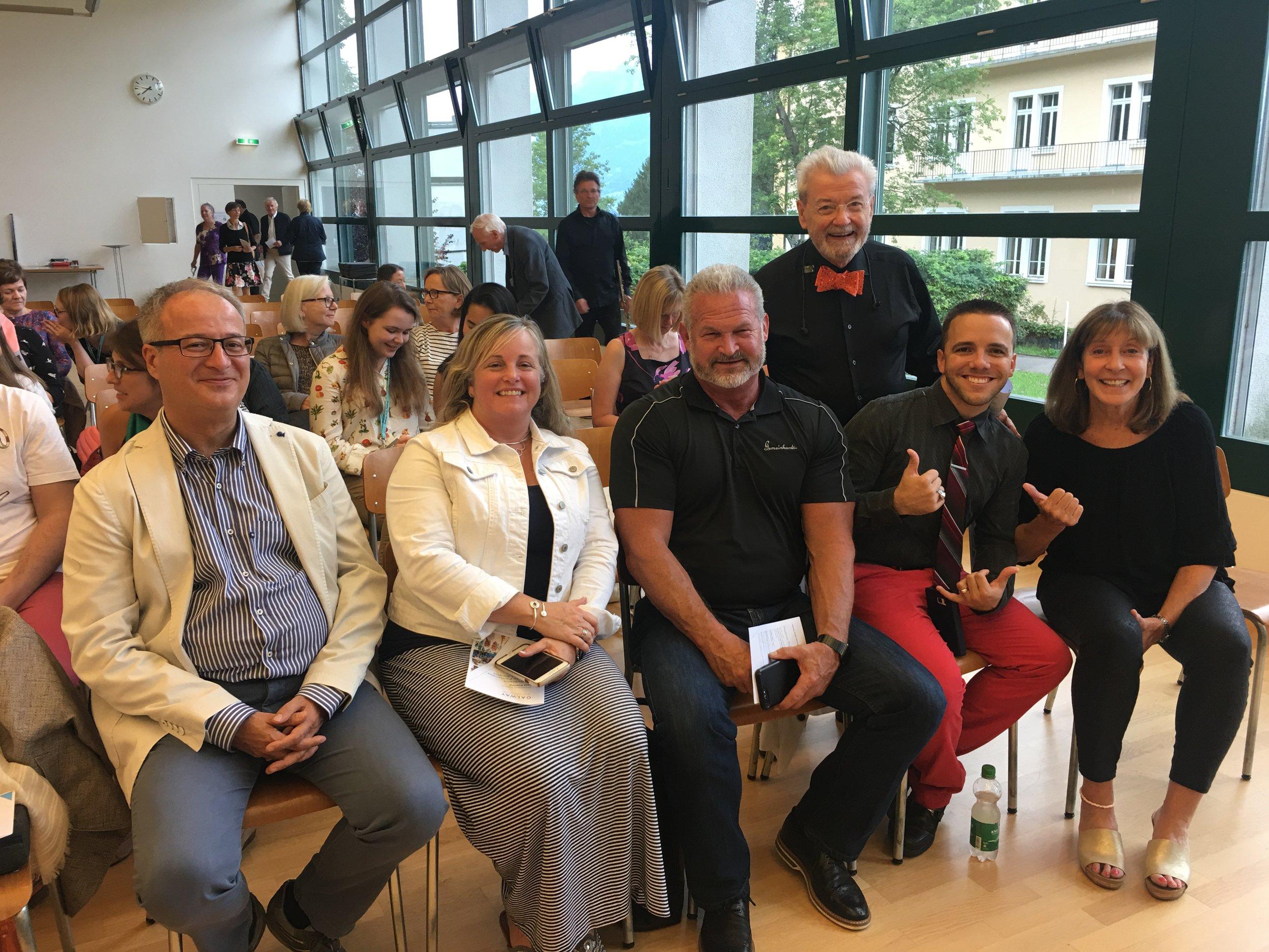 Nicolla Mazzanti, Gemeinhardt Representatives Jennifer Baunoch & David Pirtle, Sir James Galway, Ernesto Fernandez & Ali Ryerson