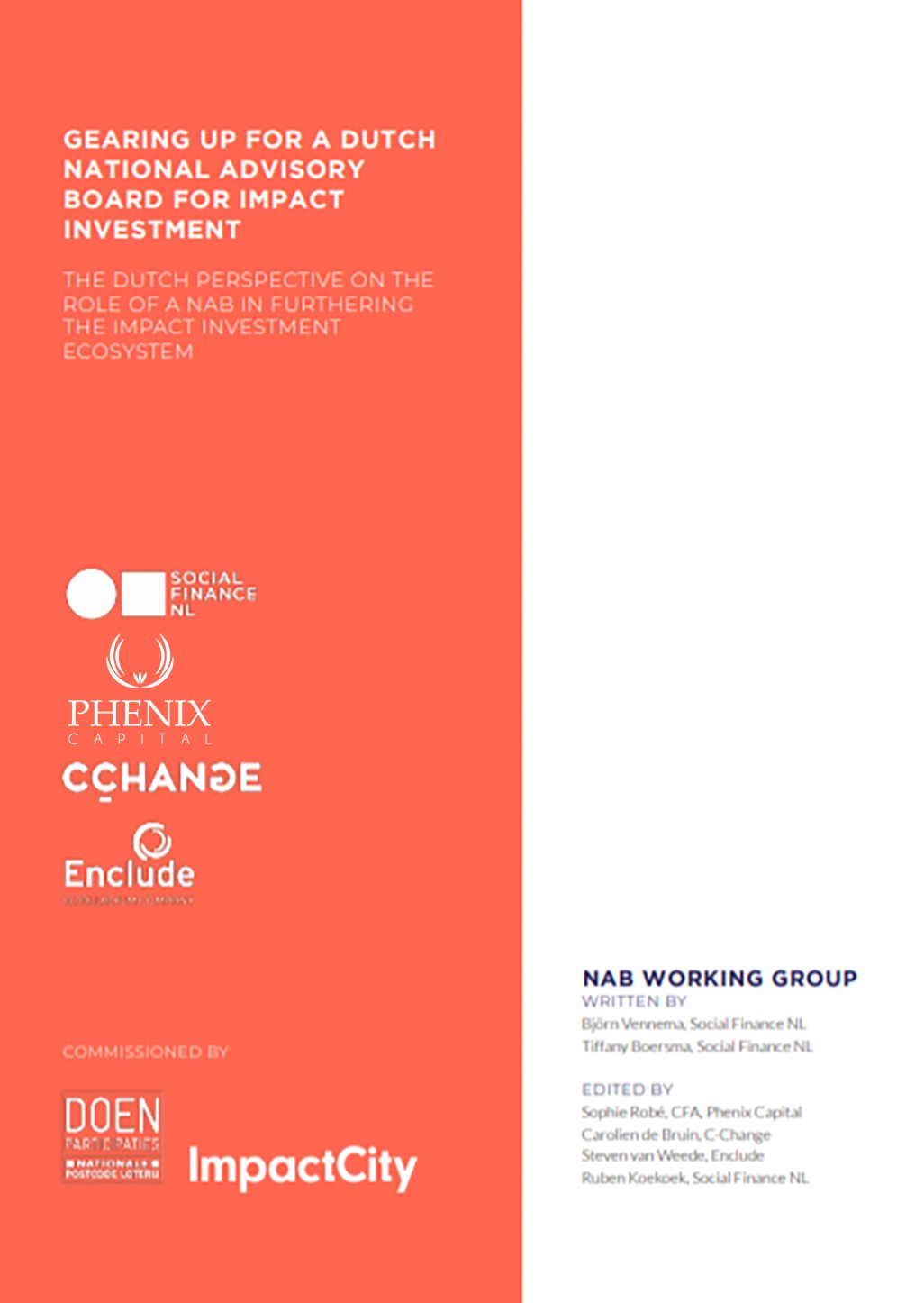 Dutch National Advisory Board report for impact investing